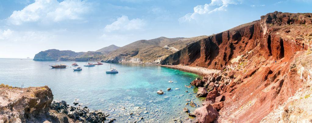Czerwona Plaża, Santorini