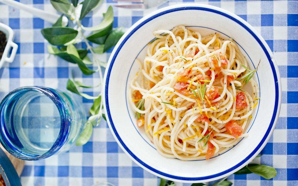 Spaghetti z czosnkiem