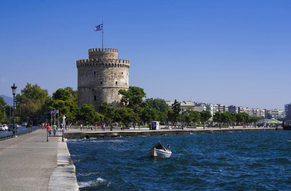 Biała Wieża w Salonikach za dnia