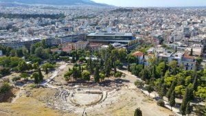 Fantastyczny widok ze wzgórza Akropolu