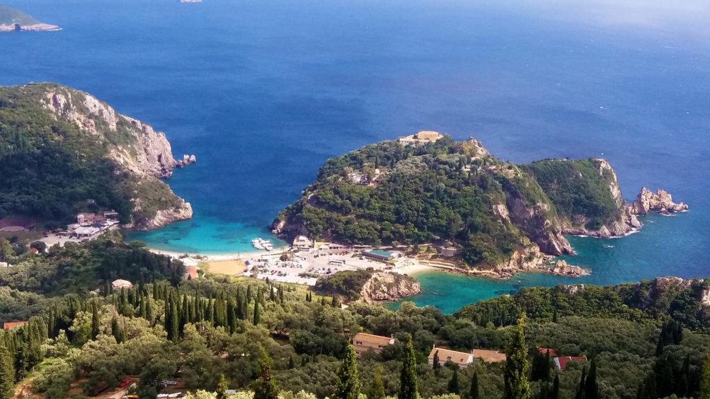 Plaża Paleokastritsa, Korfu