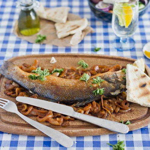 Okoń morski z Korfu
