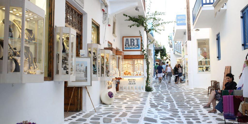 Jedna ze sklepowych uliczek Chory