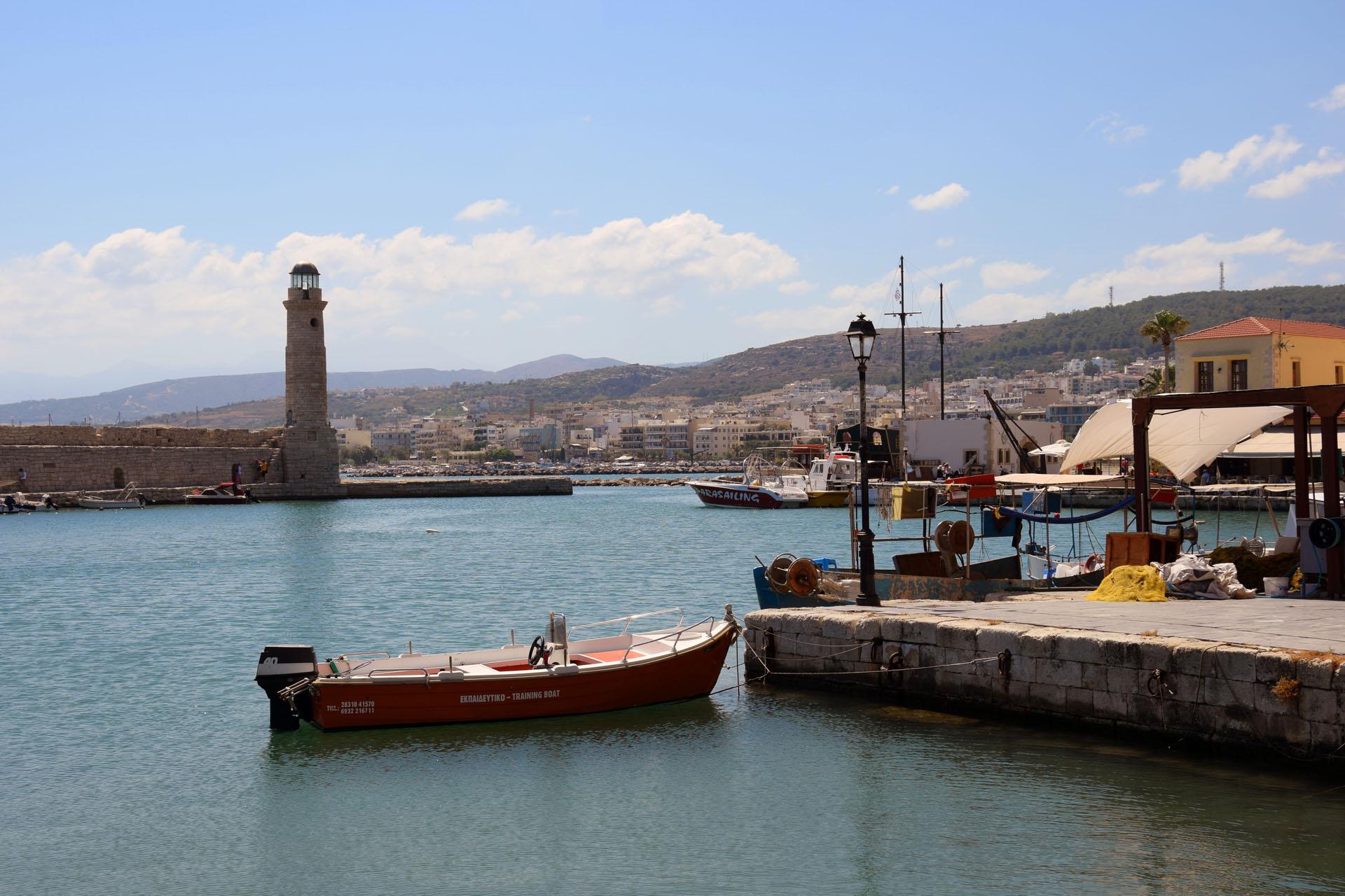Rethymno - port i latarnia