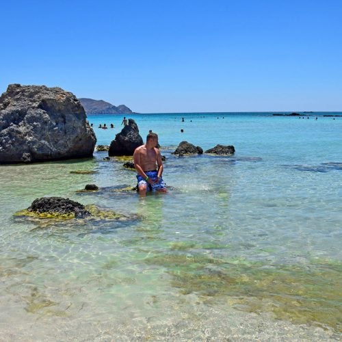 Elafonissi morze i skały