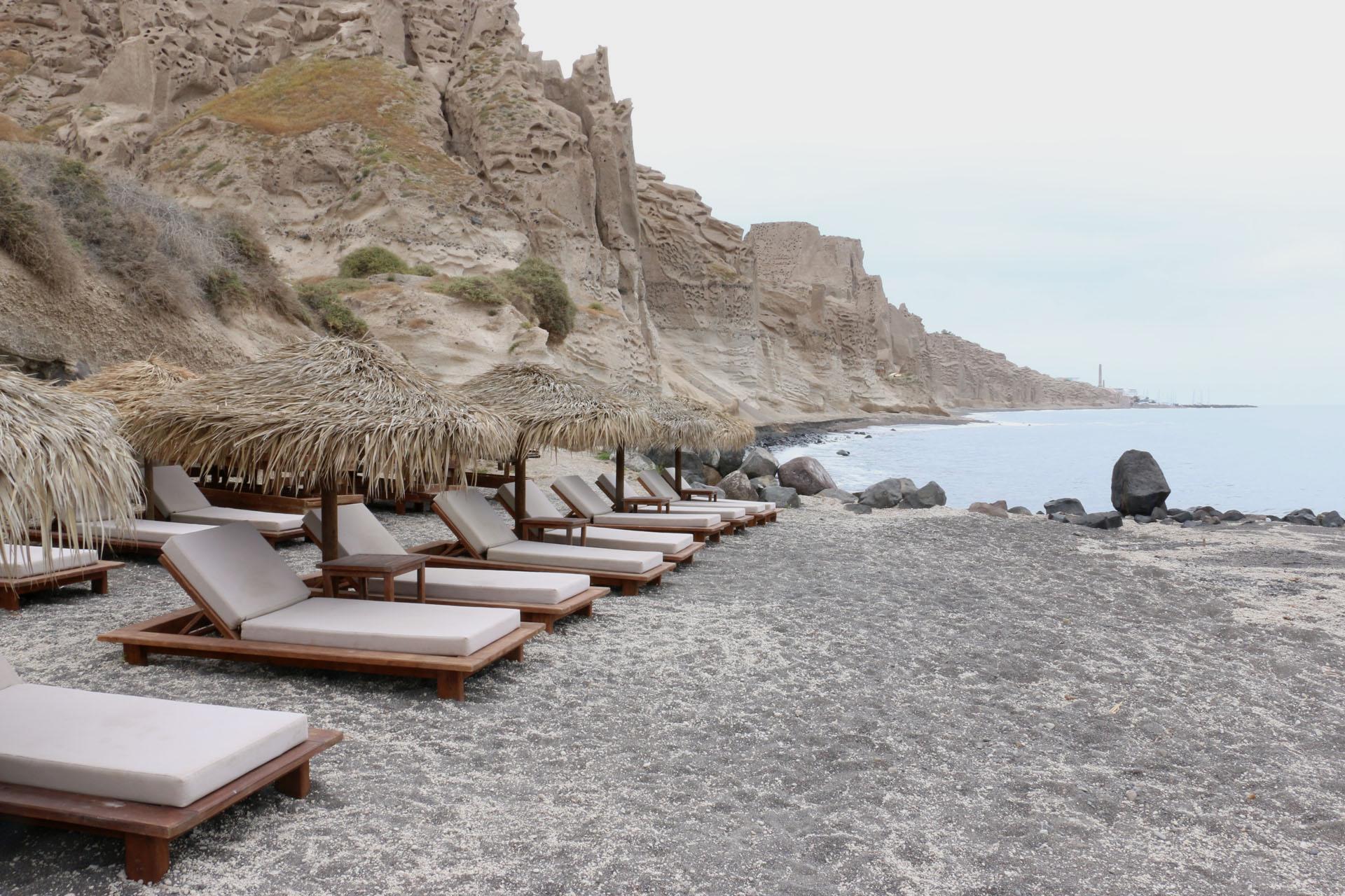Plaża na Santorini