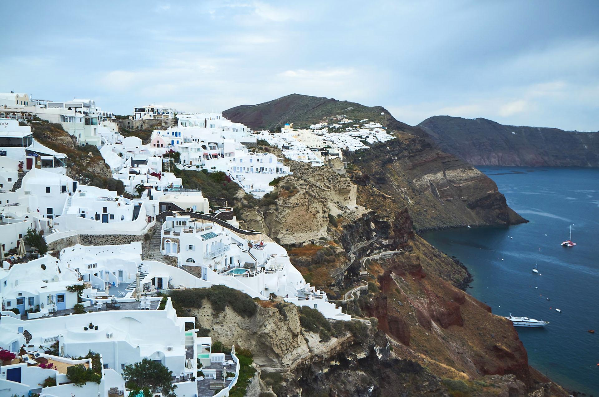 Santorini - białe domy