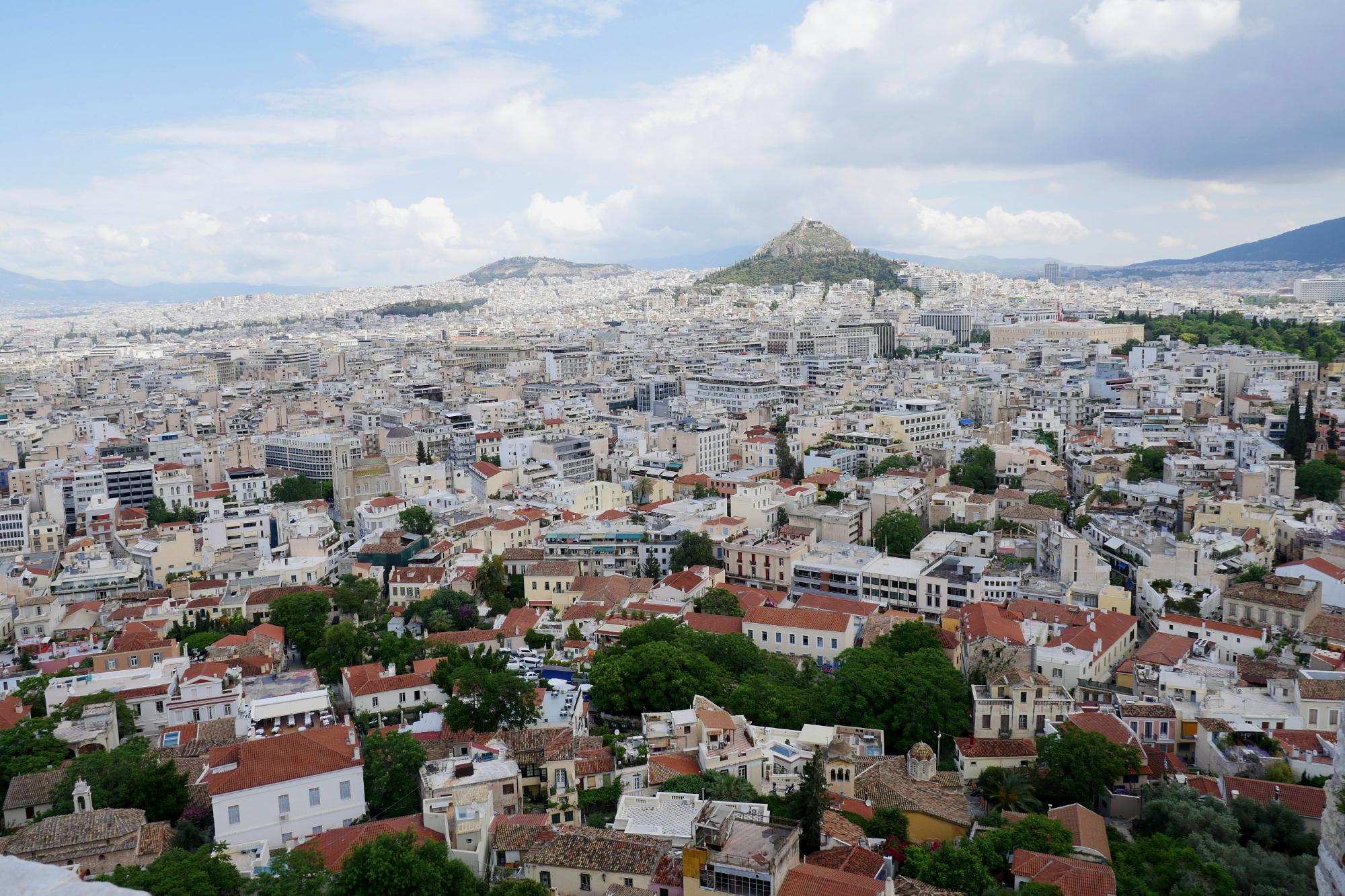 Ateny - panorama miasta