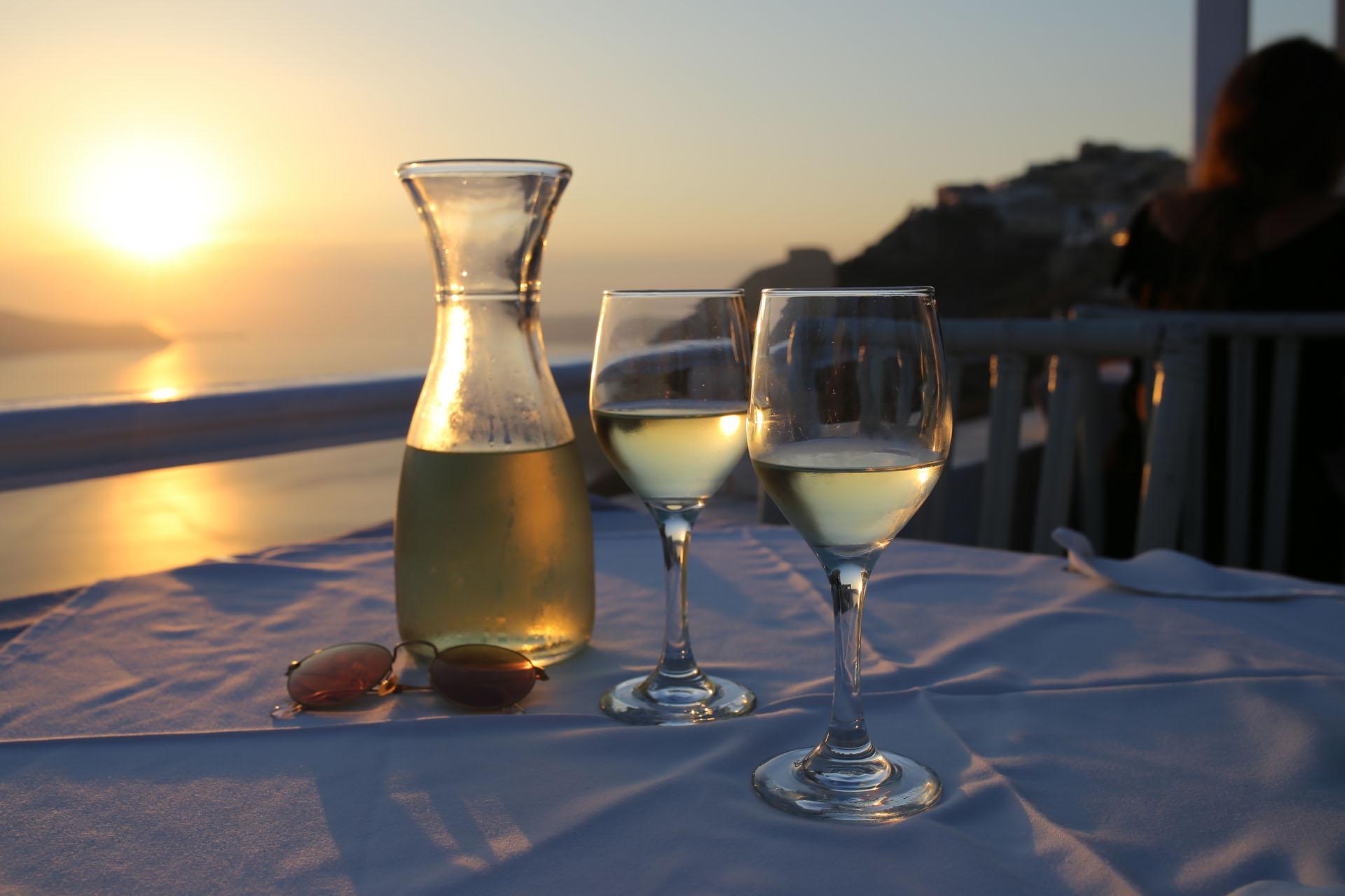 Zachód słońca na Santorini