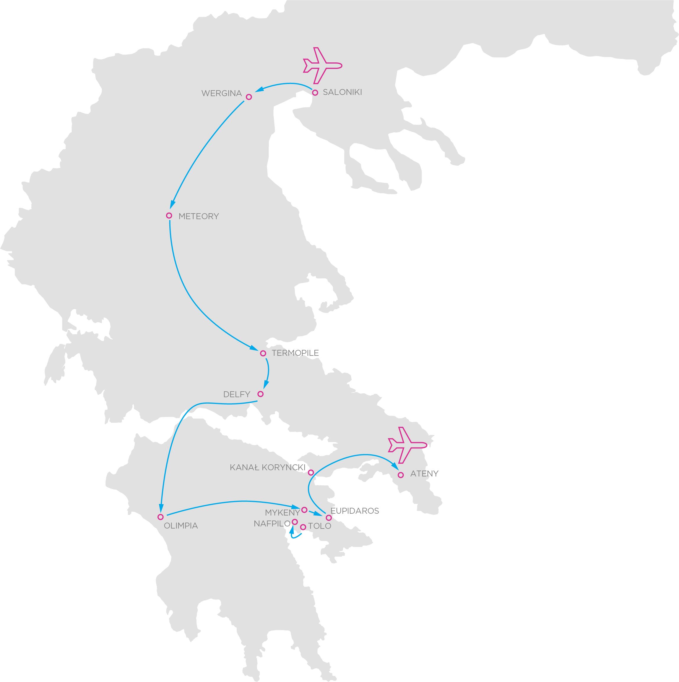 Mapa Grecji po mojemu