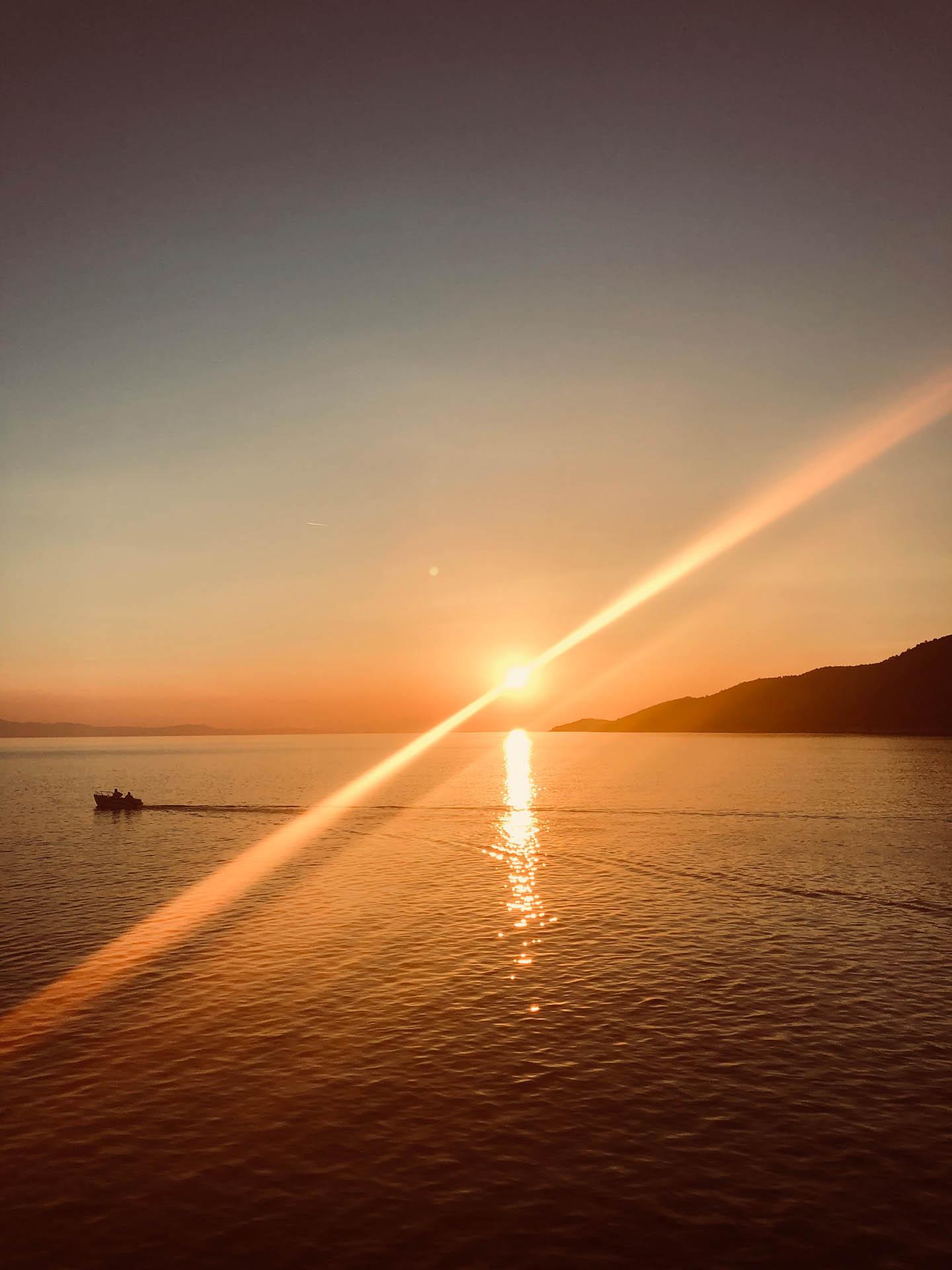 Zachód słońca na Skopelos