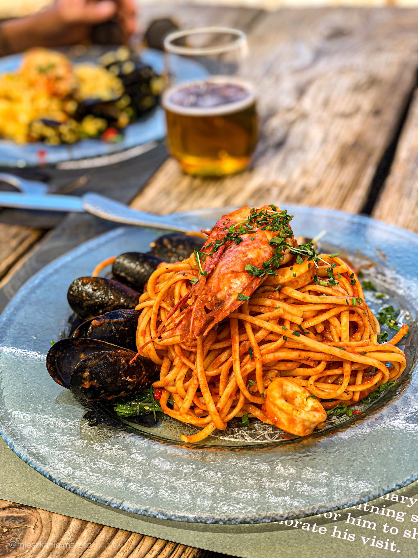 Spaghetti z owocami morza z Rodos